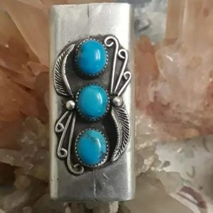 Vintage Navajo Sterling Lighter Case